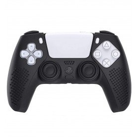 DrPhone SH1 –High End Siliconen Hoes – Grip – Comfortabel – Geschikt Voor PS5/Playstation5 - Zwart