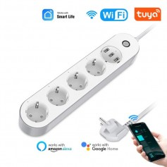 DrPhone SPS1 Wifi Smart Stekkerdoos 3u+ - 3x USB poorten - Voice Control Met Alexa Google Home Tuya app