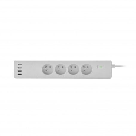 DrPhone SPS3 Wifi Smart Stekkerdoos - Plug Socket - 4x USB poorten - Voice Control Met Alexa Google Home Tuya app