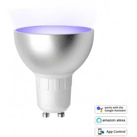 DrPhone SmartLED® - Dimbaar Gu10 Smart Lamp - Slimme Verlichting - 6W - RBG+W - Wifi - Smart Home - Alexa / Google Home Led Lamp