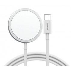 DrPhone CM10 - Gecertificeerde MagSafe Oplader 15W - Magnetisch - Draadloos Laden voor iPhone 12 series