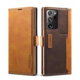 DrPhone CIMKEE 2- Pashouder - PU leer - Magnetische Flip - Galaxy S21 Ultra - Bruin