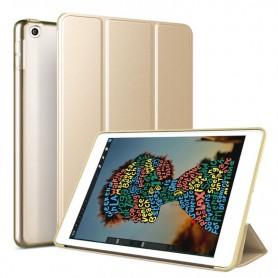 DrPhone Tri-Fold - Opvouwbare Cover - PU Lederen Case - Voorkant + Achterkant - Voor iPad Mini 5 2019 - Goud