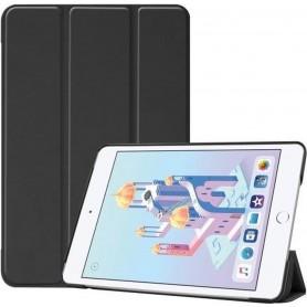 DrPhone Tri-Fold - Opvouwbare Cover - PU Lederen Case - Voorkant + Achterkant - Voor iPad Mini 5 - 2019 - zwart