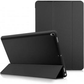 DrPhone Tri-Fold - Opvouwbare Cover - PU Lederen Case - Voorkant + Achterkant - Voor iPad Pro 10,5 2017 - zwart