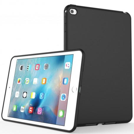 DrPhone TPUC1 - Siliconen Case – Rubberen Hoes - Zwart Geschikt voor Ipad Mini 4 ( A1538 / A1550)