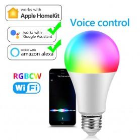 DrPhone SmartLED® - Dimbaar E27 Smart Lamp - Slimme Verlichting - 9W - RBG+W - Wifi - Alexa / Google Home Led Lamp / Tuya App