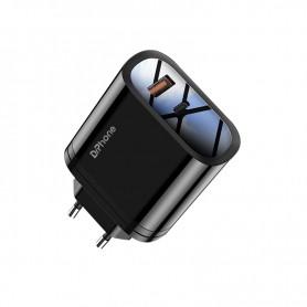 DrPhone ICON - Gecertificeerde Power Lader - 9V 3A - 36W PD - 2 Poort Stekker Oplader - USB-C + USB female - Zwart