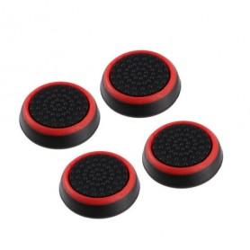 DrPhone 4 Rubberen Thumbsticks – Playstation 3 & 4 – Extra Grip – Playstation Controller – Xbox One Controller - Rood/Zwart