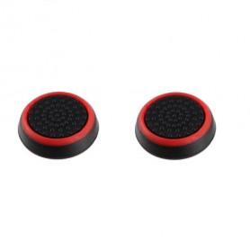 DrPhone 2 Rubberen Thumbsticks – Playstation 3 & 4 – Extra Grip – Playstation Controller – Xbox One Controller - Rood/Zwart
