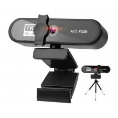 DrPhone CW7 1K Webcam – 1920x1080P– Webcamera met Microfoon/Statief - Autofocus - 85-graden groothoek – 2MP - Zwart