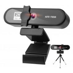 DrPhone WC7 4K Webcam – 3840* 2160p – met Microfoon/Statief en Privacykap - Autofocus - Groothoek – 8MP - Zwart