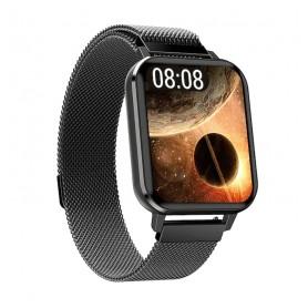 DrPhone CurvX2 - IP68 Waterdichte 1.78 Inch Grote Scherm - Smartwatch voor Mannen Vrouwen - ECG Hartslag Bloeddrukmeter - Zwart