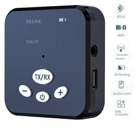 DrPhone BAZ1 – Bluetooth Audio Zender - Plug and Play – Krachtig – Zwart / Donker Blauw