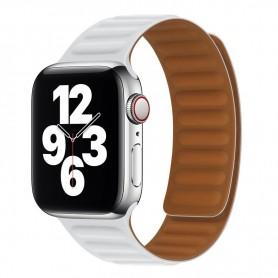 DrPhone AWB1 – Horloge Band – Magnetisch – Lichtgewicht – Waterdicht – Geschikt voor Apple Watch 38 / 40mm - Wit