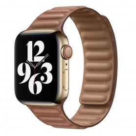 DrPhone AWB1 – Horloge Band – Magnetisch – Lichtgewicht – Waterdicht – Geschikt voor Apple Watch 38 / 40mm - Bruin