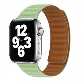 DrPhone AWB1 – Horloge Band – Magnetisch – Lichtgewicht – Waterdicht – Geschikt voor Apple Watch 38 / 40mm - Licht Groen
