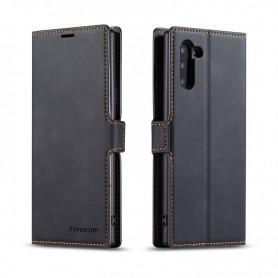 DrPhone SN2 - Samsung Galaxy Note 10 - PU Lederen hoesje - Pasjeshouder - Zwart