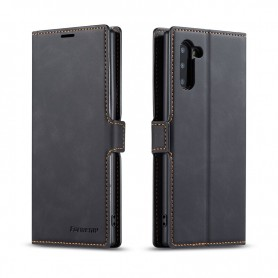 DrPhone SN2 - Samsung Galaxy Note 10 Plus - PU Lederen hoesje - Pasjeshouder - Zwart