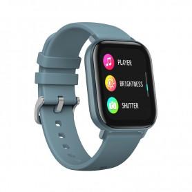 DrPhone GTE Smart - Smartwatch + Tracker - Notificaties - Hartslagmeter - Da Fit (NL App) - Voor iPhone / Samsung etc - Grijs