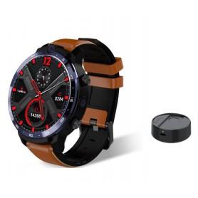 DrPhone SW12 Instinct - 4G LTE Smartwatch Mannen - Android 7.1 met 3GB Ram 32B Opslag - GPS - Gezicht ID - 2x Camera - Bruin