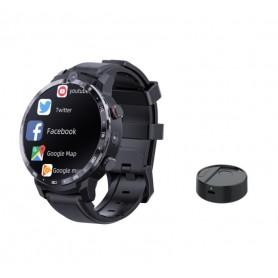 DrPhone SW12 Instinct - 4G LTE Smartwatch Mannen - Android 7.1 met 3GB Ram 32B Opslag - GPS - Gezicht ID - 2x Camera - Zwart