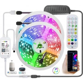 Drphone AG05 - LED Strip RGB - 10 METER - WiFi - Draadloos - Amazon Alexa / Google Home - Smart Life / Tuya - App Bediening