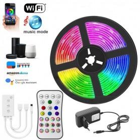 Drphone AG06 - LED Strip RGB - 15 METER - WiFi - Draadloos - Muziek afspelen - Ip65 Amazon Alexa / Google Home - App Bediening