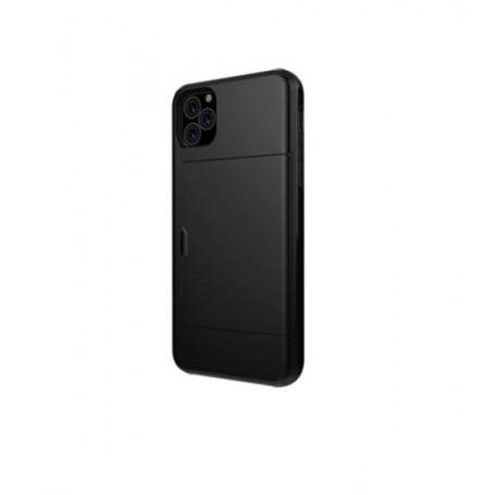 DrPhone SZ4 - Zachte TPU - Geschikt voor Iphone 11 Pro Max- Kaartsleuven - Zwart