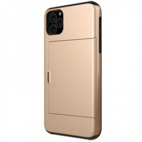 DrPhone SZ3 - Zachte TPU - Geschikt voor Iphone 11 Pro- Kaartsleuven - Goud