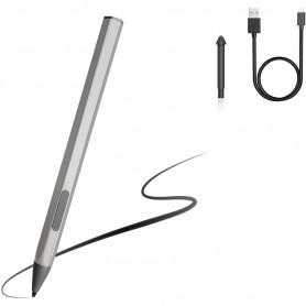 DrPhone Pro Logic2 – Stylus Pen – 4096 Drukgevoeligheid – Brede Compatibiliteit – 40 Uur Gebruik - Zilver