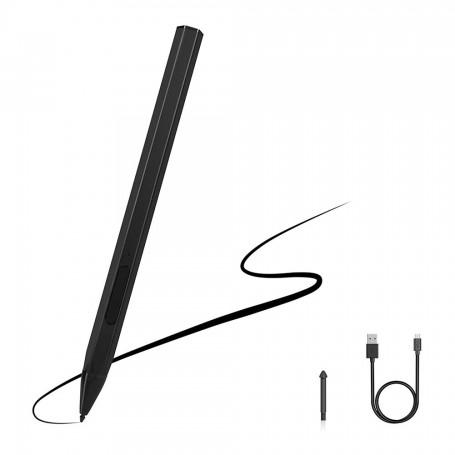 DrPhone Pro Logic 2– Stylus Pen – 4096 Drukgevoeligheid – Brede Compatibiliteit – 40 Uur Gebruik - Zwart
