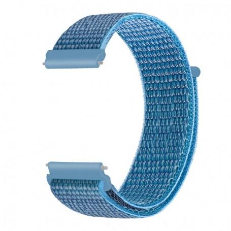 DrPhone NGQ Universele 20mm Nylon Geweven Elastische Band met klittenband - Horlogeband – Armband– Blauw