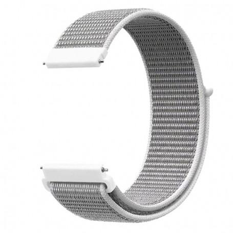 DrPhone NGQ Universele 20mm Nylon Geweven Elastische Band met klittenband - Horlogeband – Armband - Grijs