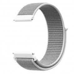 DrPhone SWB2 - Universele 20mm Nylon Geweven Elastische Band met klittenband - Horlogeband – Armband – Grijs