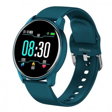 DrPhone DTX-3 – Ultra Slanke Smartwatch Voor Mannen & Vrouwen – Hartslagmeter – Stappenteller – Sport horloge - Blauw