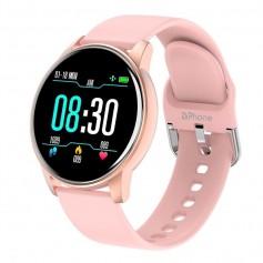 DrPhone DTX-3 – Ultra Slanke Smartwatch Voor Vrouwen / Dames Horloge – Hartslagmeter – Stappenteller – Sport horloge - Roze