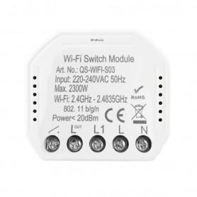 DrPhone SW1 - Smart Wifi - Schakelaar - 50 Hz - Voice Control Met Alexa / Google Home - Smart life app - Wit