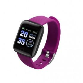 DrPhone - KidzOne Advanced - Smartwatch voor Kinderen - Stappenteller - Hartslagmeter Nederlandstalige App - Paars