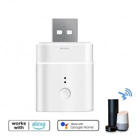 DrPhone SON1 - USB Smart Adapter - Micro - Voice Control Met Alexa / Google Home - Wit