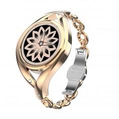 DrPhone Ladies ART - Smartwatch Vrouwen - Luxe Armband - Ultradunne Slimme Horloge - Hartslagmeter - Stappenteller - Goud