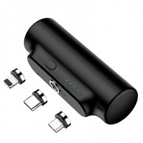 DrPhone WP1 – Draadloze Magnetische Powerbank – Sterke Magneet – Lichtgewicht – 3000 mAh - Zwart
