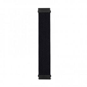 DrPhone X Nylon Band - Elastische Band - Maat S - Geschikt voor Apple Watch - 42/44 MM – Zwart