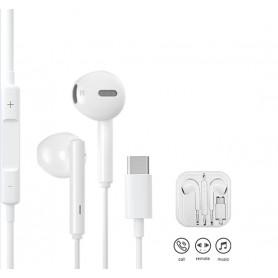 DrPhone HiFi5 PRO - USB-C Oordopjes – Volume Controle - Geschikt voor Huawei / Xiaomi etc– Wit ( Geen DAC ingebouwd)