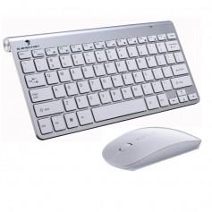 Elementkey V09 - Draadloos Toetsenbord - 2.4GHz - Muis - Geschikt voor Computer - Laptop - Wit