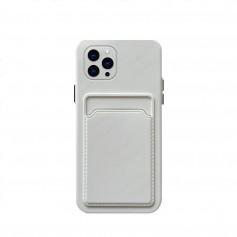 DrPhone IH3 – TPU Telefoonhoesje - Portemonnee kaarthouder – Schokbestendig -Bumper - Geschikt voor IPhone 13 Mini - Wit
