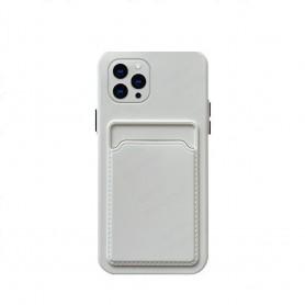 DrPhone IH3 – TPU Telefoonhoesje - Portemonnee kaarthouder – Schokbestendig -Bumper - Geschikt voor IPhone 13 Pro Max - Wit