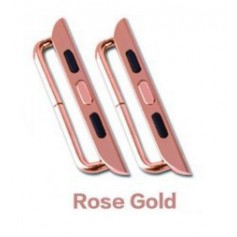 Apple Watch Adapter 38mm Stalen Band Connector (Set van 2) Limited Edition Rose Goud + Schroevendraaier