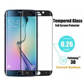 Professionele Samsung Galaxy S6 Edge PLUS Tempered Glass 3D Design Full Screen Coverage Zwart