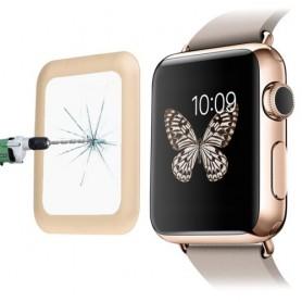 0.2mm 8-9H Metaal Full-covered Tempered Glas Voor Apple Watch 42mm Goud